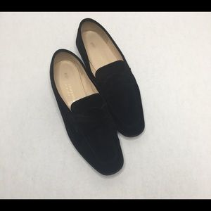 Silvia Florentina black suede penny loafers 6.5 M